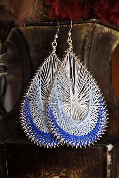 Peruvian String Art Earrings by poisonivydesigns on Etsy, $25.00