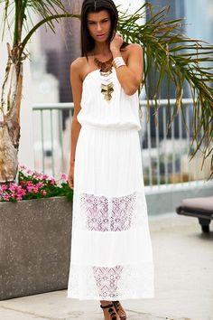 White Strapless Sundress