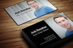 Stylish actor business card template created by mario vila design stylish actor business card template by amanda donahu also suitable for singer or dancer reheart Images
