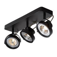 Spot Tala LED 3 lichts zwart Lucide 31930-36-30