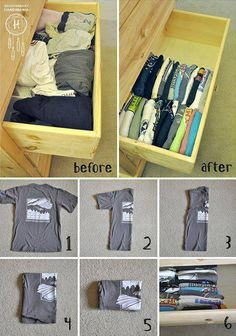 Dorm Room Ideas Tips Tricks and Hacks Small Room Organization College Dorm Decorations Dorm Hacks Ideas Organization Room Small Tips Tricks Organisation Hacks, Dorm Room Organization, Organizing Drawers, Clothing Organization, Organising, Storage Hacks, Organize Dresser Drawers, Dresser Drawer Organization, Organizing Tips