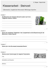 Klassenarbeit zu Steinzeit Revolution, Paleolithic Era, Art Education Projects, Maths Formulas