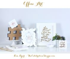 Pretty Your Home Office – Easy DIY Gold Foil Art Prints with Minc #foilallthethings