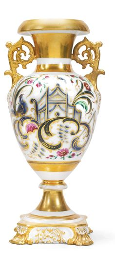 A Russian Porcelain Vase, Kornilov Brothers Manufactory, St Petersburg, circa 1840-1861 | Lot | Sotheby's