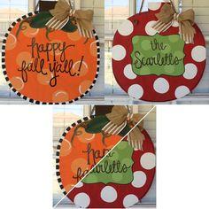 Reversible door hanger for fall/Christmas! #etsy via arhjohnston