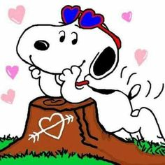 Love/affection. (no words ) --Peanuts Gang/Snoopy