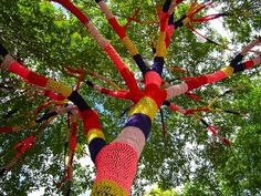 crochet items at the smithsonian | Then there is guerrilla crochet such as this magical tree in ...
