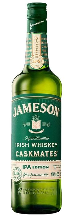 This special Jameson Caskmates IPA Edition is Jameson's signature blended Irish whiskey is finished in craft Irish Pale Ale-seasoned barrels.