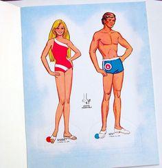 Vintage Whitman Mattel Barbie Sports Paper Dolls 1975 Uncut Olympics Cara Curtis | eBay