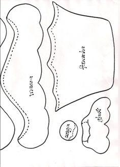 Moldes Para Artesanato em Tecido: Ginger no cupcake com Molde
