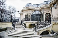 My Beautiful Bucharest added 33 new photos to the album: Case / Houses — with Roland Ciorobea and 2 others. Art Nouveau Architecture, Architecture Details, History Of Romania, Monuments, Wonderful Places, Beautiful Places, Visit Romania, Little Paris, Bucharest Romania