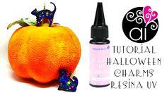 Halloween Tutorial Resina UV   Charms Gatti con la Fil Cristal UV Res Ch... Halloween Tutorial, Fantasy Films, Uv Resin, Charmed, Diy, Videos, Youtube, Resin, Bricolage