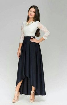 Evening Maxi Dress WomanFormal Assymetrical Dress by Dress Skirt, Lace Dress, Dress Up, Assymetrical Dress, Modest Fashion, Fashion Dresses, Mode Wax, Maxi Outfits, Mode Hijab