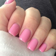 Gelish Shellac in Go Girl. Great Barbie pink!