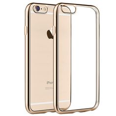 New   Luxury Ultra Thin Clear Crystal Rubber Plating Electroplating TPU Soft Mobile Phone Case For iPhone 6 6s Plus Cover bag