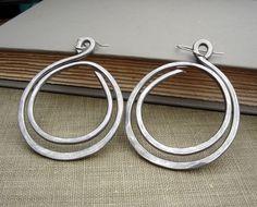 Big but light weight on your ears- Very Big Hoop Earrings  Double Hoop Loop by nicholasandfelice, $18.00