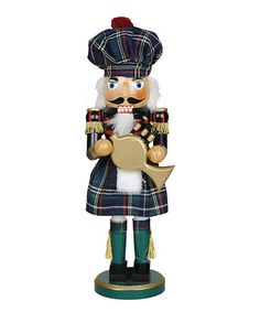 Take a look at this Irish Bagpiper Nutcracker by The Nutcracker Collection on #zulily today!