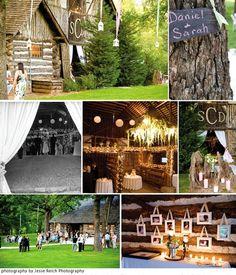 Outdoorsy/Cabin Wedding theme!