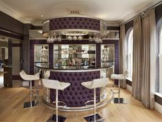 Luxury Home Bar Interior Bar Interior, Luxury Interior, Interior Ideas, Modern Home Bar Designs, Mid Century Bar Cabinet, Bar Counter Design, Bar A Vin, Luxury Bar, Fancy Kitchens