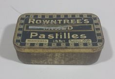 Rare Antique 1930s Rowntree's Mixed Pastilles Tin 1/4 lb Net. York England https://treasurevalleyantiques.com/products/rare-antique-1930s-rowntree-mixed-pastilles-tin-1-4-lb-net-york-england #Rare #Antiques #1930s #30s #Thirties #Rowntree #Mixed #Pastilles #Candy #Candies #Sweets #English #England #Vintage #VintageTins #Collectible #Tins #BuyNow #Collect #VisitUsToday