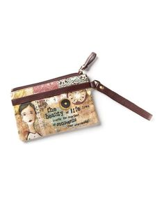 Look what I found on #zulily! Brown & Pink 'Beauty of Life' Wristlet by Kelly Rae Roberts #zulilyfinds
