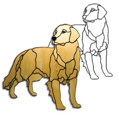 """Figure out more details on """"golden retriever pups"""". Have a look at our site. Faux Stained Glass, Stained Glass Designs, Stained Glass Panels, Stained Glass Projects, Stained Glass Patterns, Mosaic Animals, Glass Animals, Mosaic Art, Mosaic Glass"""