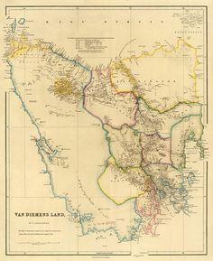 This is a really old and really cool historical map of Tasmania from the year 1842 (told you it was really old!This historical map is a replica of the original and can be laminated if that's your thing.We can also print them in smaller Vintage Maps, Antique Maps, Vintage Wall Art, Van Diemen's Land, Map Shop, Paris Map, Modern Pictures, City Scene, Old Maps