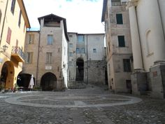The main piazza in Triora.