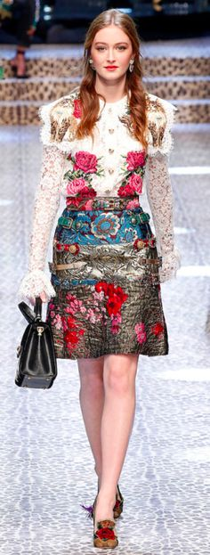 Dolce&Gabbana Outono inverno 2017/18 MFW - brocado