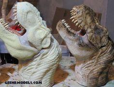 T Rex painted / unpainted by GalileoN Jurassic World Dinosaurs, Jurassic Park World, Jurassic Park Raptor, Diorama, Demon Art, Dinosaur Art, Bee Art, Prehistoric Creatures, Parking Design
