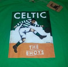Celtic t-shirt by Paine Proffitt. I ordered mine from the Celtic Superstore. http://celticsuperstore.co.uk/stores/celtic/en/product/celtic-painne-kicking-man-t-shirt-green/169884
