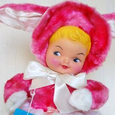 Vintage 1950s Bunny Pajama Bag.....I remember having one of these that was blue...loved it!