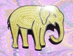 Sterling Silver 925 ELEPHANT PIN Brooch MEXICO Artist JF Taxco