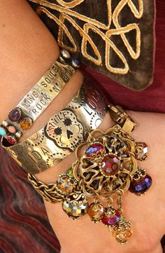 LoVE, SOule, and RoCk n' ROLL multistone cuff. http://www.gypsyville.com/store/store.asp?nProductId=25384