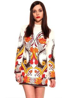 Psychedelic Paisley Mini Dress.   REALLY LOVE VINTAGE 60´s-70´s