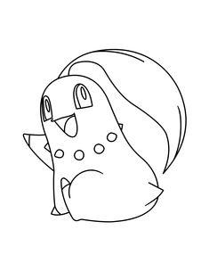 Pokemon Chikorita Coloring Pages 47302 Infovisual