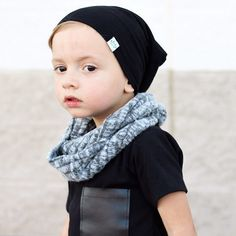 Gray toddler scarf / Toddler infinity scarf / Baby infinity scarf / Kids infinity scarf / Baby boy scarf / Hipster boy / Hipster toddler boy