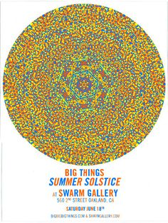 poster for the BIG THINGS solstice party by paul morgan! paul.cretin.net