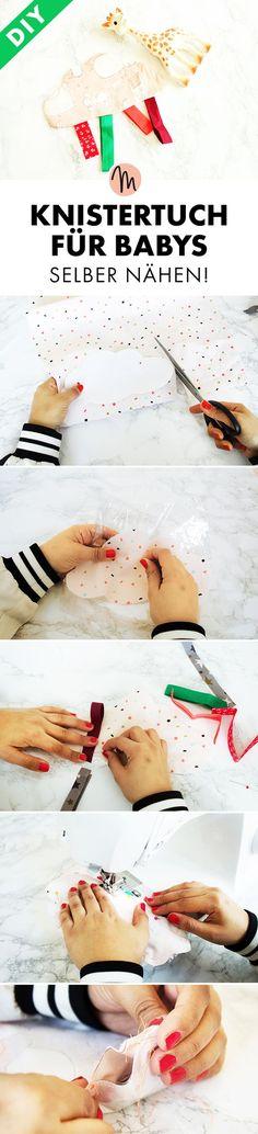 Knistertuch für Babys nähen -Gratis-Anleitung via Makerist. Easy Blanket Knitting Patterns, Easy Crochet Blanket, Crochet Baby, Crochet Patterns, Kids Crochet, Baby Patterns, Baby Boy Blankets, Knitted Baby Blankets, Sewing Toys