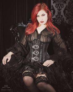 Alternative Queen of Darkness gothique bracelet noir top avec estampé Dark Angel