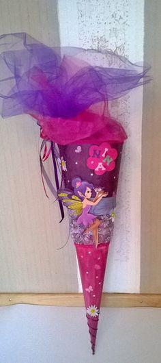 Schultüten - Schultüte Elfe lila/pink - ein Designerstück von Deko-Huette bei DaWanda