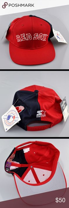 Boston Red Sox Starter Baseball Cap Baseball cap is brand new with tags, never been worn. Adjustable SnapBack. Smoke free pet friendly home. Starter Accessories Hats