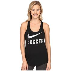Nike Soccer Graphic Tank Top Women's Sleeveless ($30) ❤ liked on Polyvore featuring activewear, activewear tops, nike sportswear, nike and nike activewear