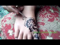 Mehndi Designs for foot - beautiful easy feet mehndi henna designsmatroj...