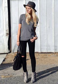 hat-street-style-серый-футболка-destroyed-джинсы-сапоги
