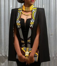 From Cape Dress To Cloak Dress; A Fashion That Will Rock African Fashion Lovers In 2016 - Women's style: Patterns of sustainability African Inspired Fashion, African Print Fashion, Africa Fashion, Fashion Prints, African Print Dresses, African Fashion Dresses, African Prints, African Clothes, African Attire Patterns