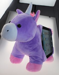 The most beautiful tablet holder. Tabbeez Alexa Unicorn! Coming early December to www.tabbeez.com