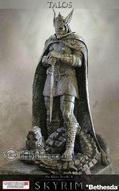 The Elder Scrolls V Skyrim Shrine of Talos Statue 36cm (750 ltd.) Gaming Heads