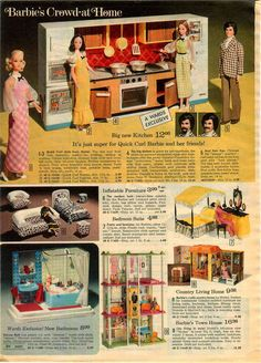 1974 Advertisement Doll 3 PG Barbie Pool Beach Bus camper Tent Kitchen Bathroom | eBay