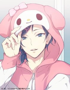 Sanrio Boys - Sanrio Danshi: Watashi Ai wo Shirimashita (Sanrio Boys: I Found Love) Yuu Mizuno Anime Sexy, Hot Anime Boy, Cute Anime Guys, Anime Boys, Sanrio Hello Kitty, Sanrio Boy, Manga Boy, Manga Anime, Anime Art
